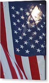 American Flag - 01131 Acrylic Print by DC Photographer
