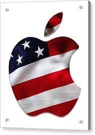 American Flag Apple Acrylic Print