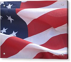 Acrylic Print featuring the photograph American Flag   by Chrisann Ellis