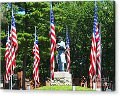 American Flag - Civil War Memorial -  Luther Fine Art Acrylic Print by Luther Fine Art