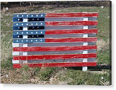 Acrylic Print featuring the photograph American Flag Country Style by Sylvia Thornton