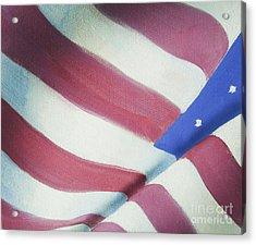 American Flag Grungy Vintage Oil Painting Acrylic Print by Christina Rahm