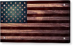 American Flag I Acrylic Print by April Moen