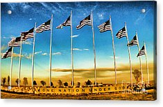 American Flag - Independence Day Acrylic Print by Luther Fine Art