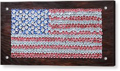 American Flag Acrylic Print by Kay Galloway
