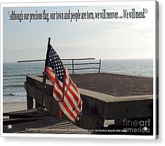 American Flag Acrylic Print by Laurence Oliver