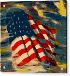 American Flag Acrylic Print by Patrick McClellan