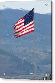 American Flag Star Valley Acrylic Print by Shawn Hughes