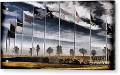 American Flag Still Standing Acrylic Print by Luther   Fine Art
