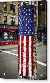 American Flag Tiles Acrylic Print by Garry Gay