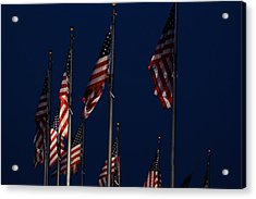American Flags Acrylic Print by DustyFootPhotography