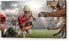 American Football Action Acrylic Print by Peepo