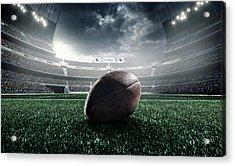 American Football Ball Acrylic Print by Dmytro Aksonov