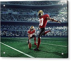 American Football Kick Off Acrylic Print by Dmytro Aksonov