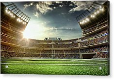 American Football Stadium Acrylic Print by Dmytro Aksonov
