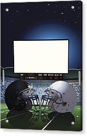 American Football Stadium Jumbotron Acrylic Print by Keithbishop