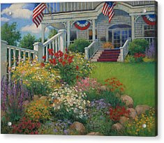 American Garden Acrylic Print by Sharon Will