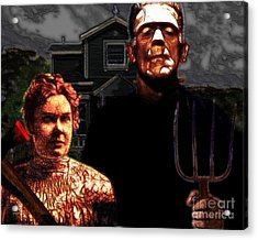 American Gothic Resurrection - Version 2 Acrylic Print by Wingsdomain Art and Photography