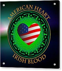 American Heart Irish Blood Acrylic Print