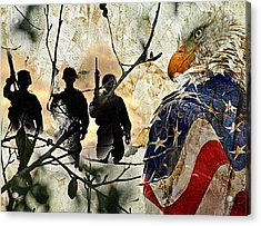 American Heroes  Acrylic Print by Carrie OBrien Sibley