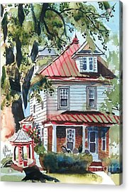 American Home With Children's Gazebo Acrylic Print