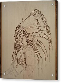 American Horse - Oglala Sioux Chief - 1880 Acrylic Print by Sean Connolly