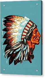 American Indian Chief Profile Acrylic Print