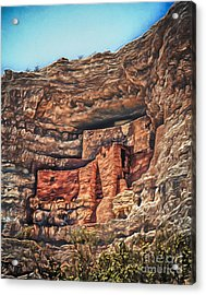 American Indian Cliff Dwelling  ... Acrylic Print by Chuck Caramella