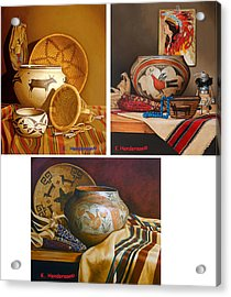 American Indian Pottery By K Henderson Acrylic Print by K Henderson