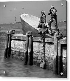 American Merchant Mariners Memorial Acrylic Print by Mike McGlothlen