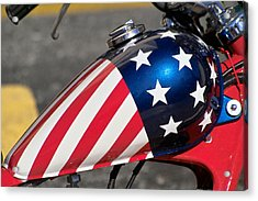 Acrylic Print featuring the photograph American Motorcycle by Gary Dean Mercer Clark