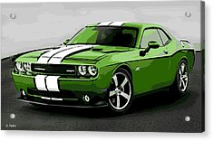 American Muscle Acrylic Print by George Pedro