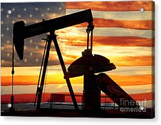 American Oil  Acrylic Print by James BO  Insogna