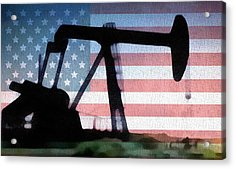American Oil Rig Acrylic Print by Dan Sproul