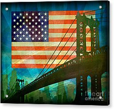 American Pride Acrylic Print by Bedros Awak