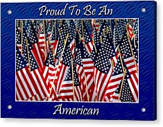 American Pride Acrylic Print by Carolyn Marshall
