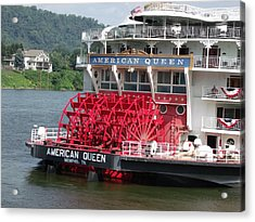 American Queen Paddlewheel Acrylic Print by Willy  Nelson