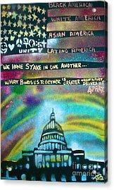American Rainbow Acrylic Print by Tony B Conscious