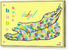 American Sign Language Baby Acrylic Print by Eloise Schneider