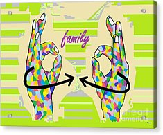 American Sign Language Family                                                    Acrylic Print