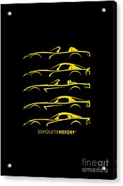 American Snakes Silhouettehistory Acrylic Print