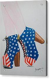 American Style Acrylic Print by Kim Lagerhem