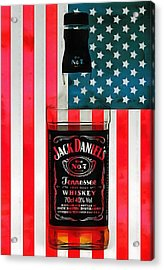 American Whiskey Jack Daniels Acrylic Print by Dan Sproul