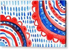 Americana Celebration 3- Painting Acrylic Print by Linda Woods