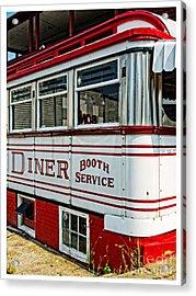 Americana Classic Dinner Booth Service Acrylic Print by Edward Fielding