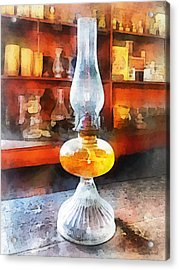 Americana - Hurricane Lamp In General Store Acrylic Print by Susan Savad