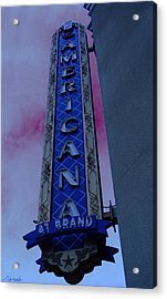 Acrylic Print featuring the photograph Americana Vintage Landmark Sign_3 by Renee Anderson
