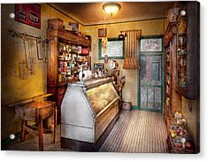 Americana - Store - At The Local Grocers Acrylic Print by Mike Savad
