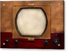 Americana - Tv - The Boob Tube Acrylic Print by Mike Savad