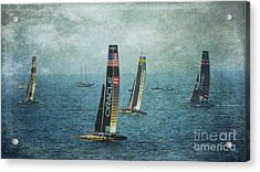Americas Cup Racing - Oracle Acrylic Print by Scott Cameron